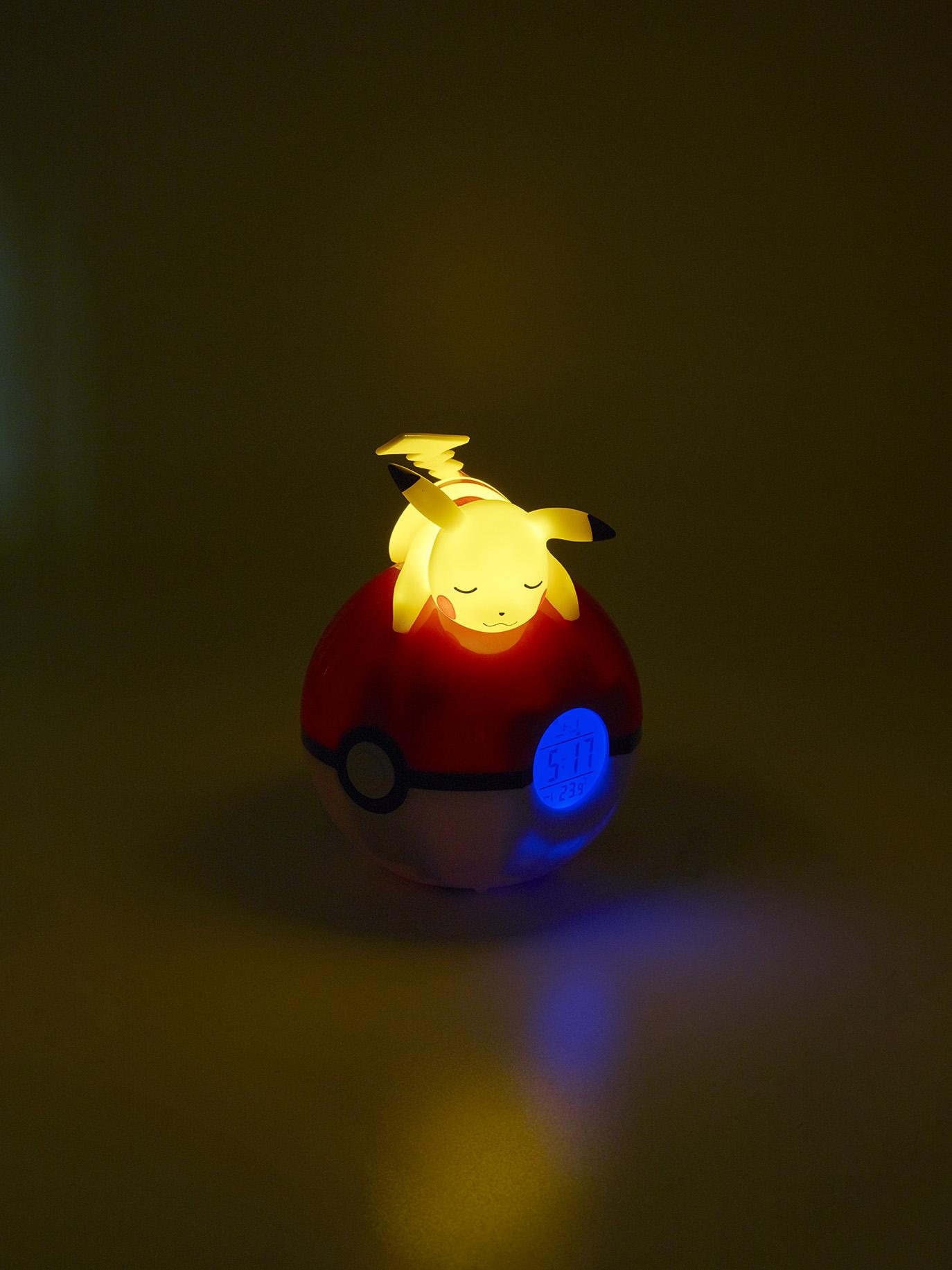 Radio-réveil lumineux numérique Pokémon Pikachu 4