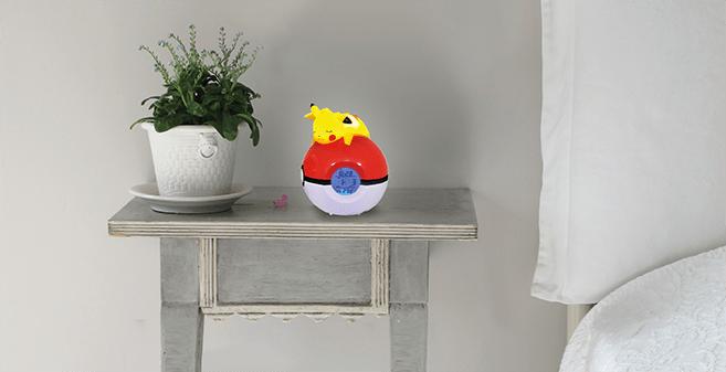 Radio-réveil lumineux numérique Pokémon Pikachu 3