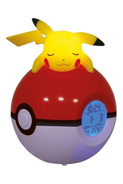 Radio-réveil lumineux numérique Pokémon Pikachu 1