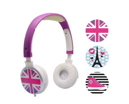 Casque audio personnalisable 3 faces Girly 2