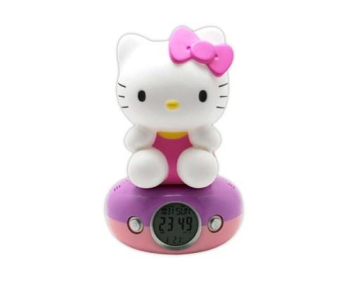 Veilleuse avec horloge numérique Hello Kitty Pink Dress 1