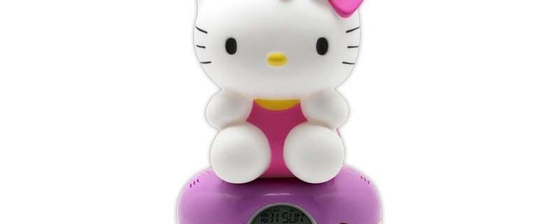 Night Light Digital Alarm Clock HELLO KITTY PINK DRESS 1