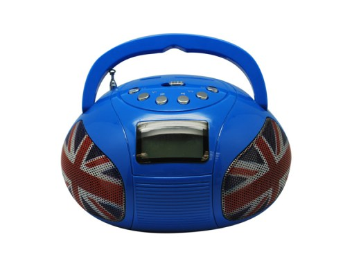 Mini Boombox Bleu UK 2