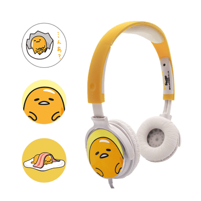 Casque audio personnalisable 3 faces Gudetama 1