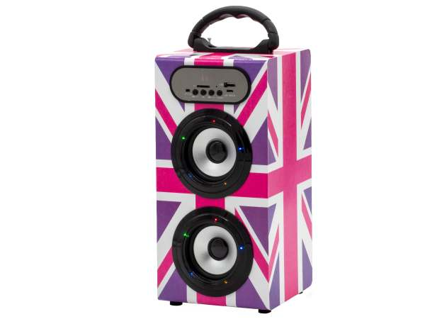 Teknofun Wireless Speaker 11in UK Girly left