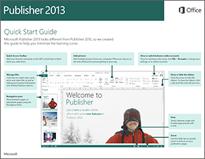 publisher quickstart guide icon