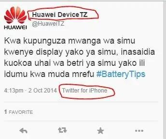 huawei Tanzania Twitter