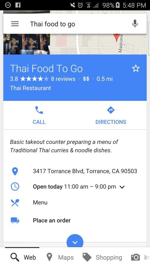 Google-Search-food-orders