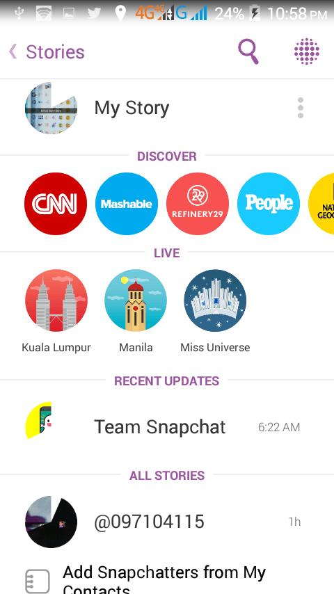 Kutumia Snapchat