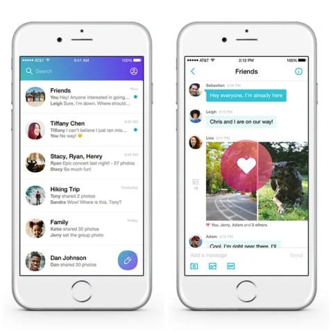 Muonekano wa app ya Yahoo Messenger katika simu