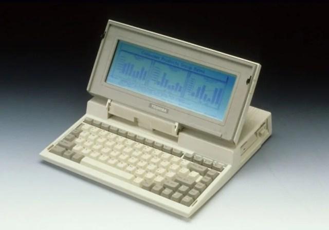 Toshiba T1100 Laptop ya kwanza duniani