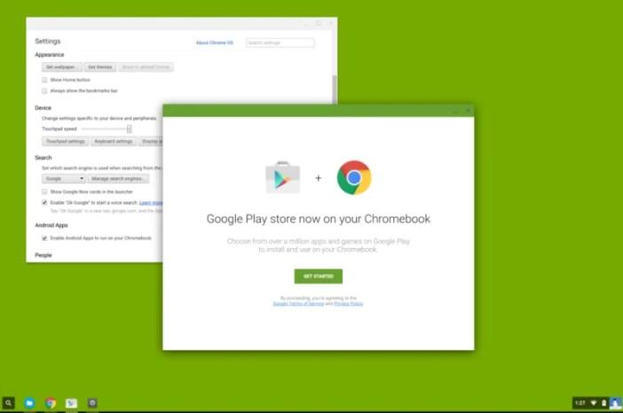 Google Playstore kupatikana kwa watumiaji wa Chrome OS