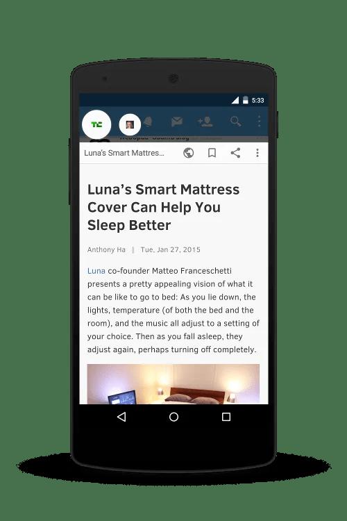 Flynx ina tabia za app za ku-soma baadae kama Pocket