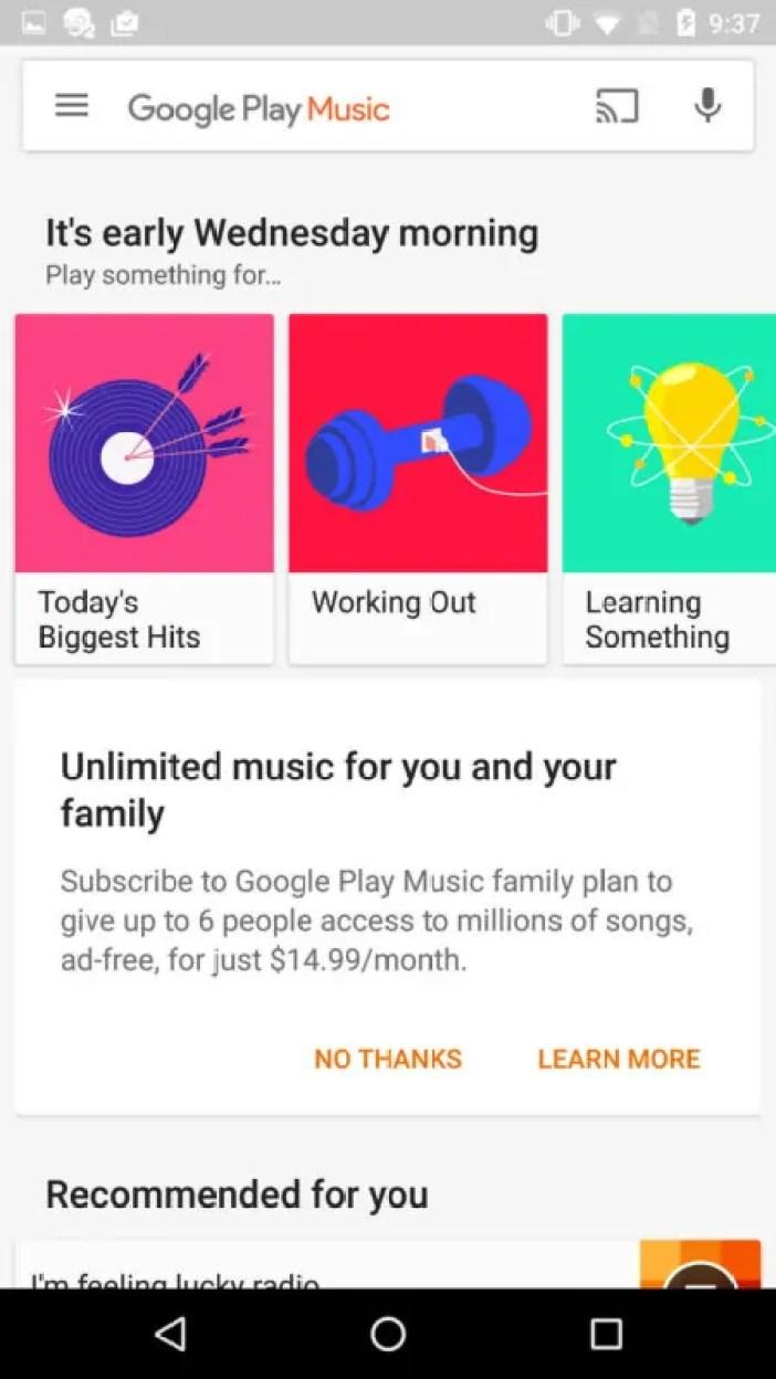 Moja Ya Katika Ya Huduma Ya Muziki Wa KU'Stream' Kutoka Google Maarufu Kama 'Google Play Music'