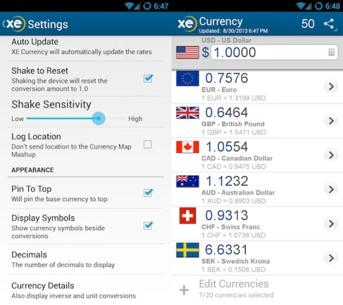 Currecy XE - App Inayokujulisha VIwango Vya Kigeni