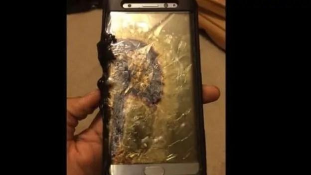 Simu aina ya Samsung Galaxy Note 7 ilyolipuka.