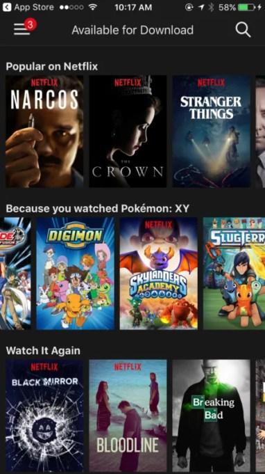 video za Netflix