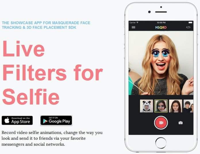 Aplikasi, Android, iOS, Masquerade, MSQRD, Selfie, Face Swap