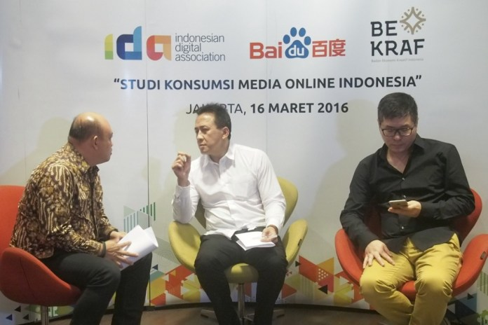 survei, media online, indonesia, IDA, Baidu, Bekraf