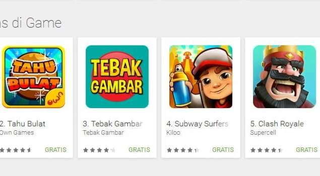 game, tahu bulat, android, own games, google play store, game gratis