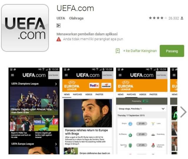 UEFA.com Apps
