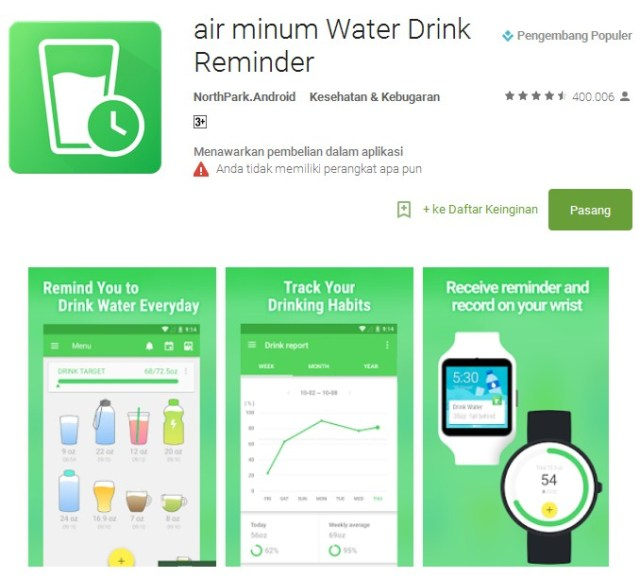 air minum Water Drink Reminder