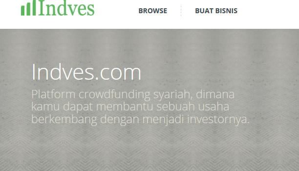Dapatkan modal atau jadi investor berbasis syariah di Indves