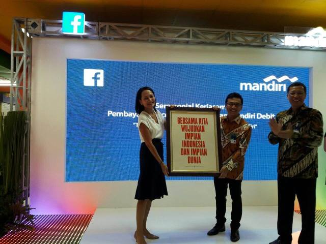 Bank Mandiri bersama dengan Facebook