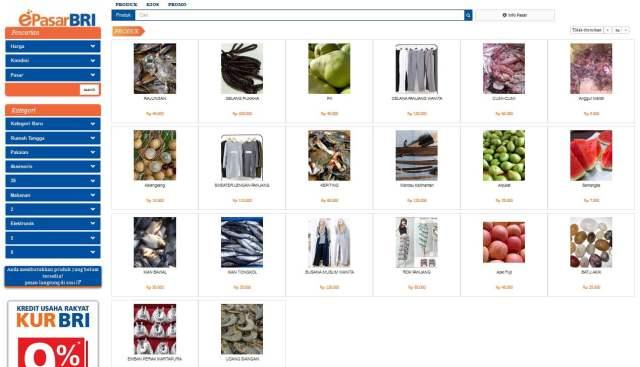Produk-Produk Pedagang Pasar Batuah Martapura di e pasar BRI