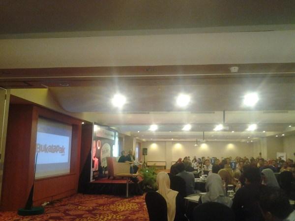 Sesi Talkshow dari Achmad Zaky, CEO Bukalapak
