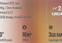 Lenovo Vibe Shot Specifications