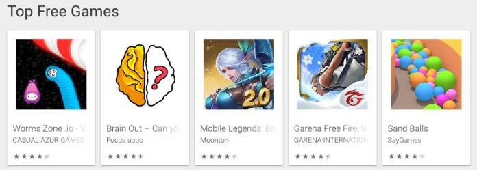 Top Free Games Charts Android Apps