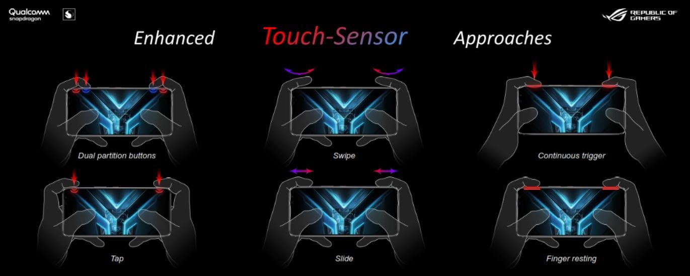 Asus ROG Phone 3 air tirggers