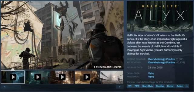 Beli Half Life Alyx di Steam