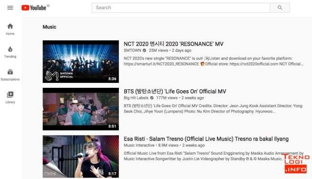 Music Trending YouTube