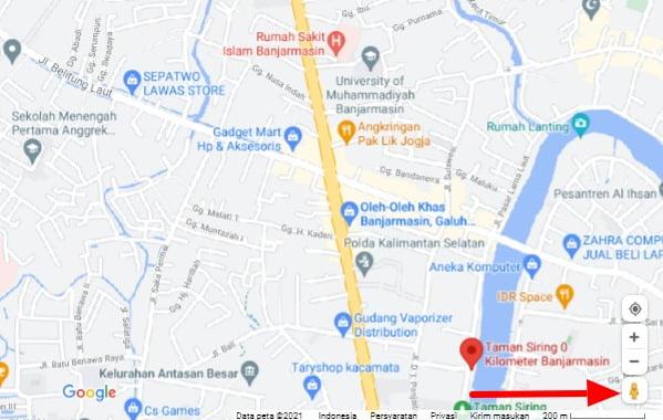 cara masuk ke google street view