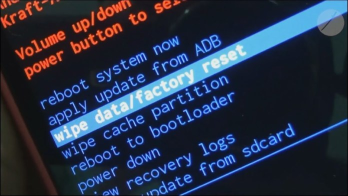 cara reset factory hp android
