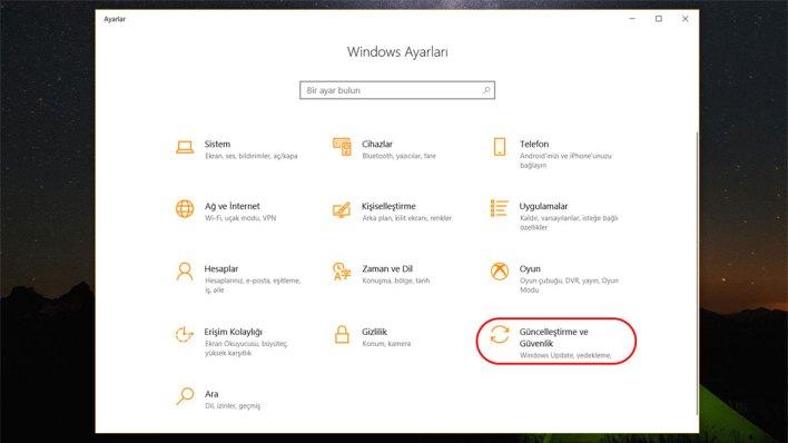Windows 10 Güvenli Mod 2. Adım
