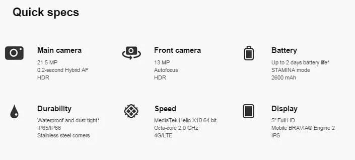 sony Xperia M5 7