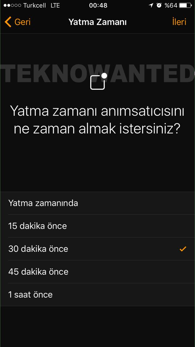 iOS 10 Yatma zamanı Bedtime (5)