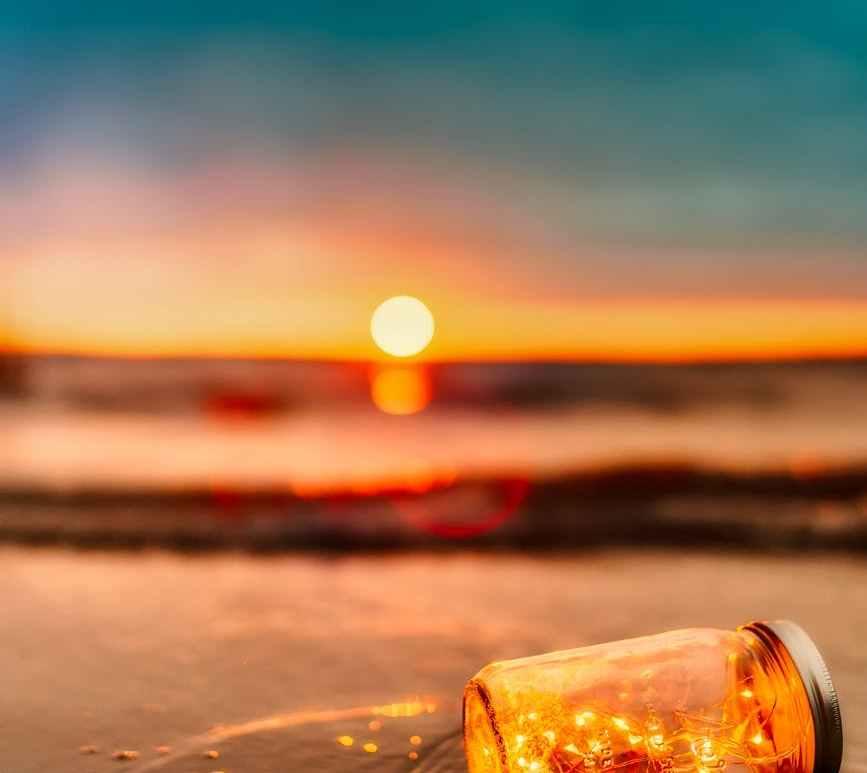 beach blur clouds dawn