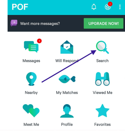 Searching a POF username