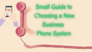 Phone System for small businesses shown