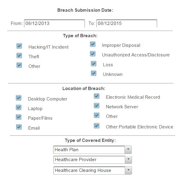 cybersecurity breach portal