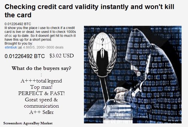 Deepweb Darknet credit card fraud