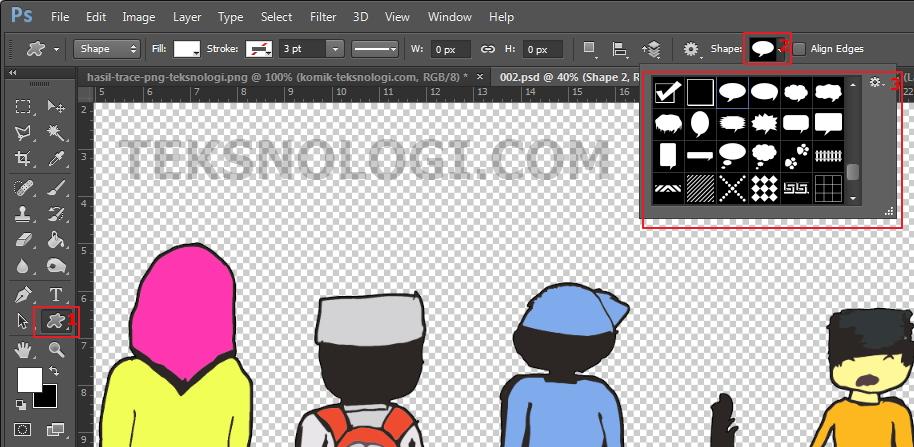 choose-custom-shape-tool-photoshop-teksnologi