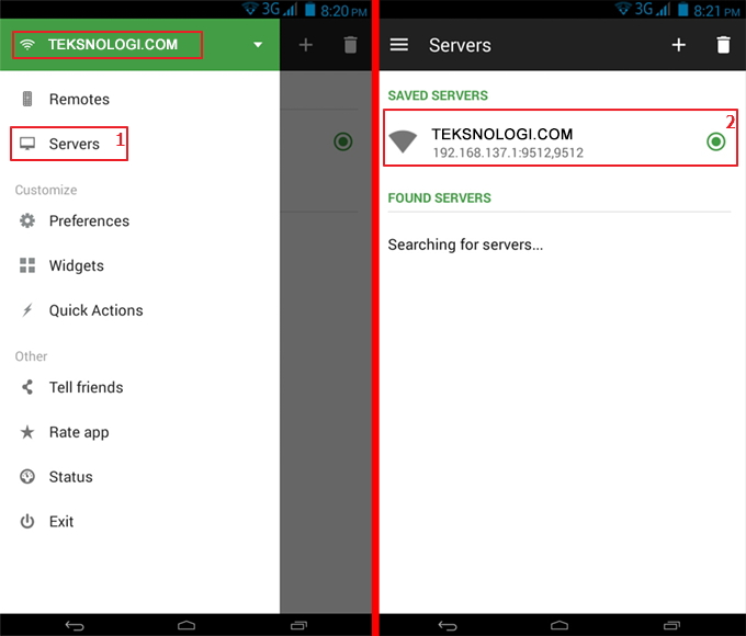 select-unified-servers-android-remote