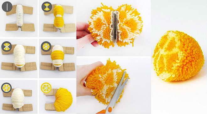 Làm thế nào để làm cho một pompon đẹp từ sợi