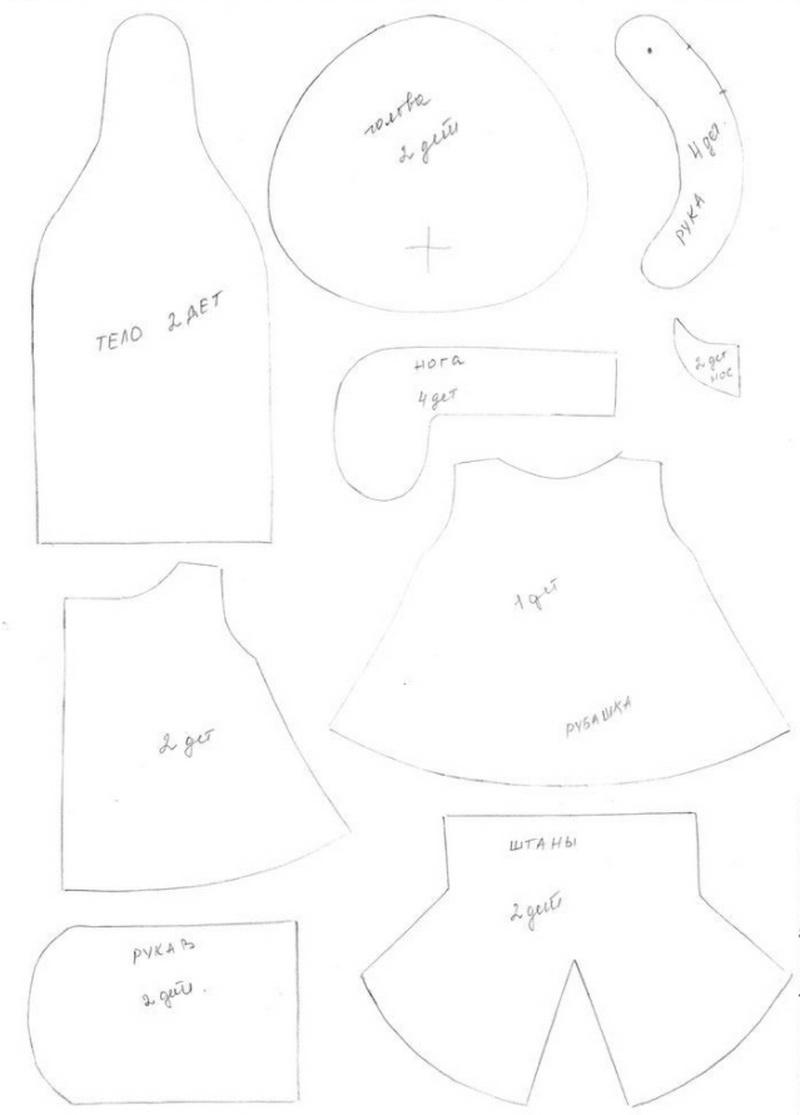 Die besten Meisterkurse zum Schneidepuppen: Schritt-für-Schritt-Anweisungen + Muster