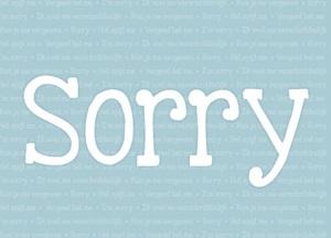 Excuses kaart